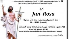 Zmarł Jan Rosa. Żył 92 lata.
