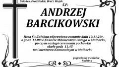 Zmarł Andrzej Barcikowski. Żył 80 lat.