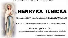 Zmarła Henryka Ilnicka. Żyła 91 lat.