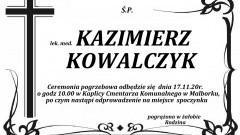 Zmarł Kazimierz Kowalczyk. Żył 85 lat.