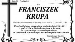 Zmarł Franciszek Krupa. Żył 82 lata.