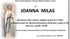Zmarła Joanna Milas. Żyła 77 lat.