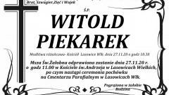 Zmarł Witold Piekarek. Żył 62 lata.