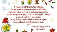 Życzenia świąteczno-noworoczne od Dyrektora GOKSRTiZ w Malborku.