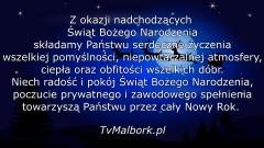 Redakcja TvMalbork.pl życzy wesołych świąt!