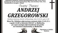 Zmarł Andrzej Grzegorowski. Żył 66 lat.