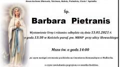 Zmarła Barbara Pietranis. Żyła 88 lat.