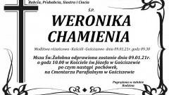 Zmarła Weronika Chamienia. Żyła 90 lat.