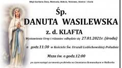 Zmarła Danuta Wasilewska. Żyła 71 lat.