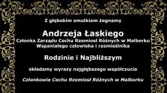 Kondolencje Członków Cechu Rzemiosł Różnych w Malborku.