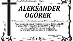 Zmarł Aleksander Ogórek. Żył 91 lat.