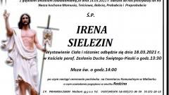 Zmarła Irena Sielezin. Żyła 93 lata.