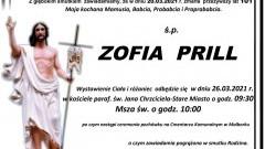 Zmarła Zofia Prill. Żyła 101 lat.