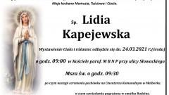 Zmarła Lidia Kapejewska. Żyła 81 lat.
