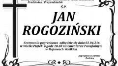Zmarł Jan Rogoziński. Żył 87 lat.