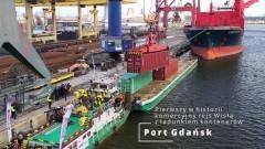 Pierwszy w historii komercyjny rejs Wisłą z ładunkiem kontenerów [VIDEO, FOTO]