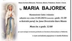 Zmarła Maria Bajorek. Żyła 87 lat.
