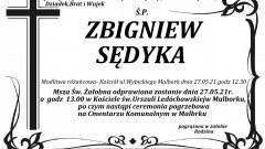 Zmarł Zbigniew Sędyka. Żył 70 lat.