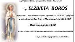 Zmarła Elżbieta Boroś. Żyła 58 lat.