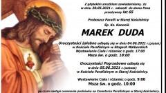 Zmarł Ksiądz Kanonik Marek Duda. Żył 65 lat.