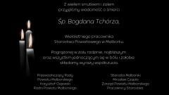 Kondolencje Starosty Malborskiego, Zarządu Powiatu, Przewodniczącego Rady Powiatu, Radnych Powiatu i Pracowników Starostwa.