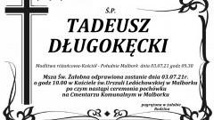 Zmarł Tadeusz Długokęcki. Żył 86 lat.