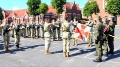 Malbork. Przysięga wojskowa absolwentów szkół mundurowych.