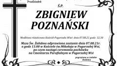 Zmarł Zbigniew Poznański. Żył 88 lat.