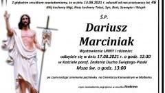 Zmarł Dariusz Marciniak. Żył 46 lat.