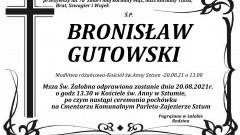 Zmarł Bronisław Gutowski. Żył 78 lat.