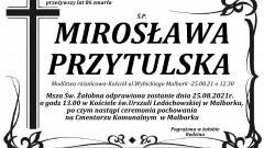 Zmarła Mirosława Przytulska. Żyła 86 lat.