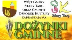 Gmina Stary Targ zaprasza na Dożynki Gminne. Szczegóły na plakacie.
