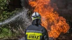 Pożar budynku gospodarczego w Solnicy – raport nowodworskich służb mundurowych.