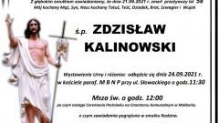 Zmarł Zdzisław Kalinowski. Żył 58 lat.