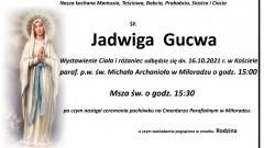 Zmarła Jadwiga Gucwa. Żyła 75 lat.