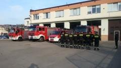 Malborscy Strażacy podczas porannej odprawy - 31.08.2015