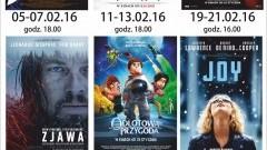 """Repertuar sztumskiego kina """"Powiśle"""" na miesiąc Luty - 01-29.02.2016"""