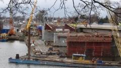 Zobacz postęp prac przy budowie II nitki mostu na rzece Nogat w Malborku - 22.02.2016