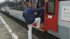 Sztum: Problemy z wchodzeniem do pociągu osób starszych, kobiet z wózkami, niepełnosprawnych. Wspinaczka górska na stacji – 12.04.2016