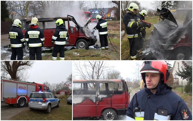 Stegna. Pożar samochodu osobowego – 31.12.2016