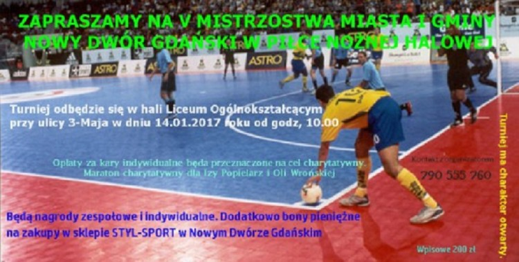 Zaproszenie na V Mistrzostwa Miasta i Gminy Nowy Dwór Gdański - 14.01.2017