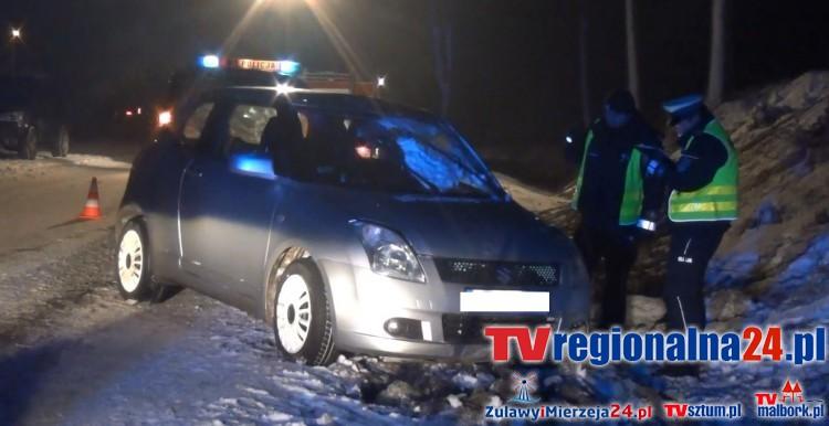 Gm. Sztum: Dachowanie samochodu osobowego w Pietrzwałdzie. Pasażerka poniosła śmierć na miejscu – 10.01.2017