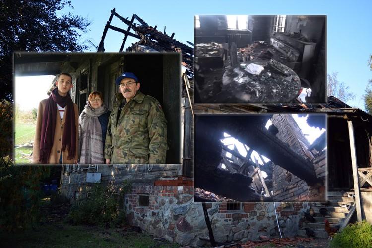 Jazowa: Miesiąc po pożarze, na przedsionku zimy. Czy uda się odbudować dom? - 19.11.2017