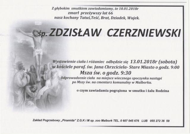 Zmarł Zdzisław Czerzniewski. Żył 66 lat