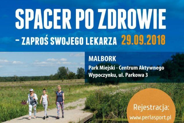 Spacer po Zdrowie w Malborku. Trwają zapisy!