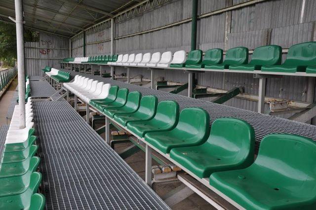 Nowe trybuny na stadionie Powiśle Dzierzgoń