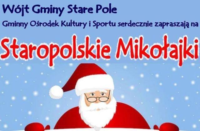 Święty Mikołaj odwiedzi Gminny Ośrodek Kultury i Sportu w Starym Polu.