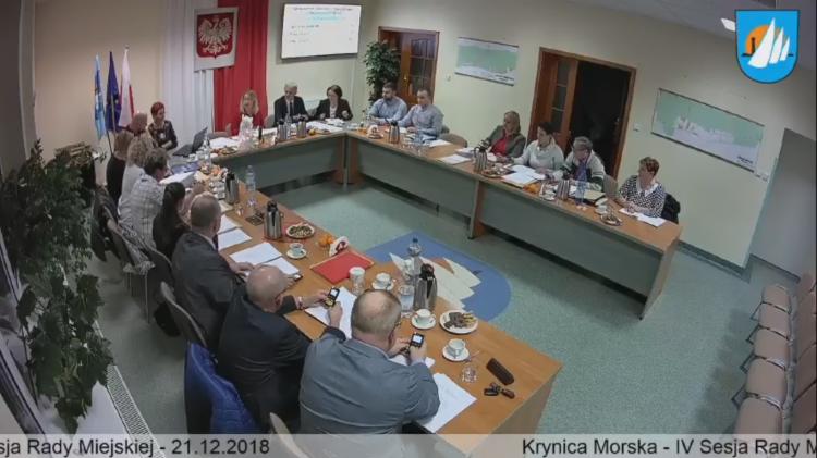 IV Sesja Rady Miejskiej w Krynicy Morskiej. Zobacz na żywo.