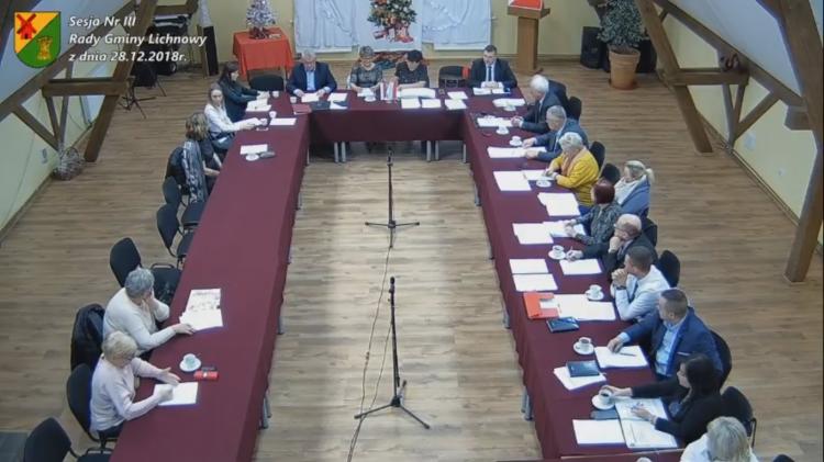 III sesja Rady Gminy Lichnowy. Zobacz na żywo.