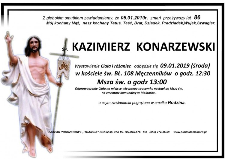 Zmarł Kazimierz Konarzewski. Żył 86 lat